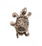 AM-2305 Фигурка-брошь кошельковая  Черепаха мудрости   латунь