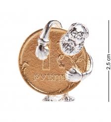 AM-2307 Фигурка кошельковая «Деньги быстро копятся»  латунь