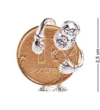 AM-2307 Фигурка кошельковая  Деньги быстро копятся   латунь