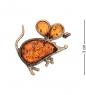 AM-2370 Брошь  Мышонок   латунь, янтарь