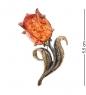 AM-2404 Брошь  Тюльпан Надежды   латунь, янтарь