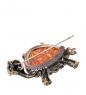 AM-2413 Брошь  Черепаха Тортилла   латунь, янтарь