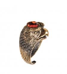 AM-2480 Кольцо «Орел»  латунь, янтарь