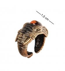 AM-2501 Кольцо «Слон»  латунь, янтарь
