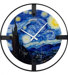 SLT-05 Часы настенные «VAN GOGH STARRY NIGHT»