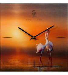 SLT-27 Часы настенные «FLAMINGO»