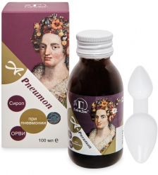 MED-66/02 «A-Pneumon» сироп-концентрат пищевой на основе растительного сырья, 100 мл
