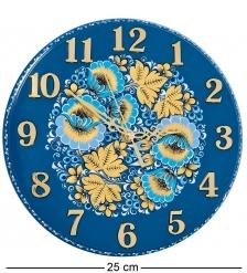 KH-10/2 Часы с хохломской росписью настенные 22х250