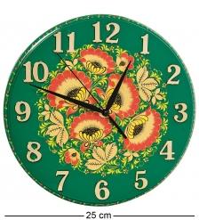 KH-10/3 Часы с хохломской росписью настенные 22х250