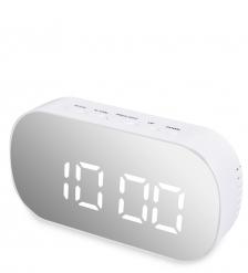 ЯЛ-07-25/1 Часы электронные зеркальные  белый с белым циферблатом