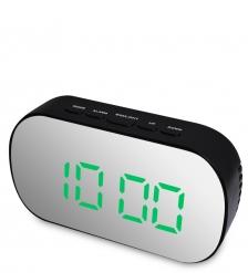 ЯЛ-07-25/4 Часы электронные зеркальные  черный с зелёным циферблатом