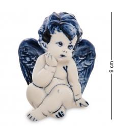 ГЛ- 21 Фигурка «Ангелочек»  Гжельский фарфор