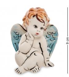 ГЛ- 22 Фигурка «Ангелочек» цв.  Гжельский фарфор