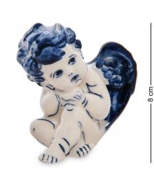 ГЛ- 23 Фигурка «Ангелочек»  Гжельский фарфор
