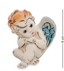 ГЛ- 24 Фигурка «Ангелочек» цв.  Гжельский фарфор