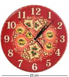 KH-10/4 Часы с хохломской росписью настенные 22х250