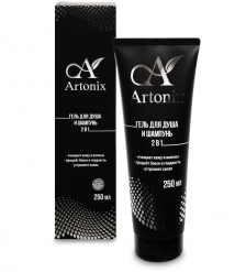 MED-55/11 «ARTONIX» гель ламеллярный моющий для тела и волос 2 в 1, 250 мл