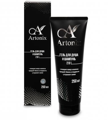 MED-55/11 ARTONIX гель ламеллярный моющий для тела и волос 2 в 1, 250 мл