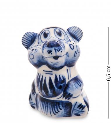 ГЛ-705 Фигурка  Медведь   Гжельский фарфор