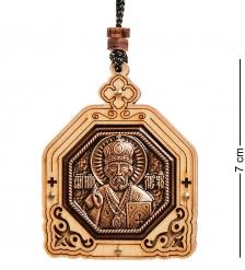 КФ-308/1 Подвеска в машину деревянная «Святой Николай Чудотворец»