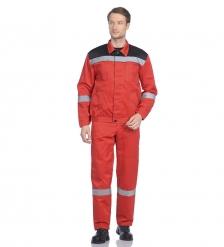 ЯЛ-02-143 Костюм куртка/полукомб. р.44-46, рост 170-176, красный/черный