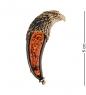 AM-2605 Брошь «Коготь Сокол»  латунь, янтарь