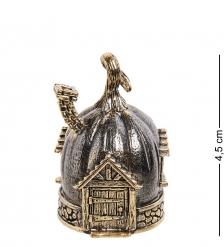 AM-2685 Колокольчик «Домик тыква»  латунь, янтарь