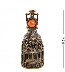 AM-2692 Колокольчик «Паровоз»  латунь, янтарь