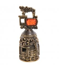 AM-2693 Колокольчик «Паровоз»  латунь, янтарь