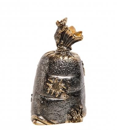 AM-2695 Колокольчик «Мешок мышиная добыча»  латунь, янтарь