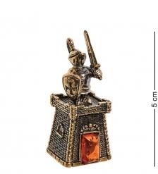 AM-2698 Колокольчик «Крепость с Рыцарем»  латунь, янтарь