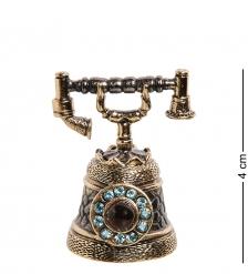 AM-2703 Колокольчик «Телефон со стразами»  латунь, янтарь