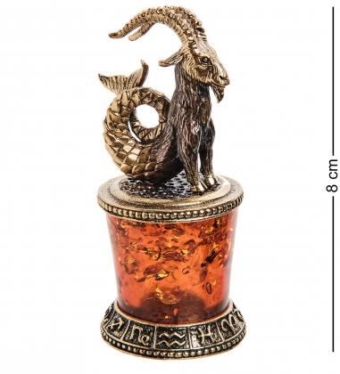 AM-2772 Фигурка «Знак зодиака-Козерог»  латунь, янтарь