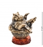 AM-2797 Шкатулка «Бегемотик Фифа»  латунь, янтарь