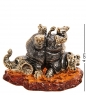 AM-2814 Фигурка «Бегемот и слон друзья»  латунь, янтарь