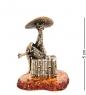 AM-3024 Фигурка Лягушка Мальдивы  латунь, янтарь