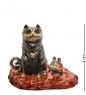 AM-3088 Фигурка «Кот и мышка друзья»  латунь, янтарь