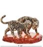 AM-3185 Фигурка «Тигры Саванна»  латунь, янтарь