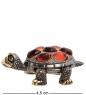 AM-3186 Фигурка «Черепаха  Живчик»  латунь, янтарь