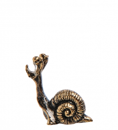 AM-3189 Фигурка «Улитка Нано»  латунь, янтарь