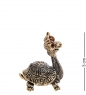 AM-3226 Фигурка «Черепаха Красотка»  латунь, янтарь