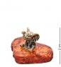 AM-3254 Фигурка Слон Нано  латунь, янтарь