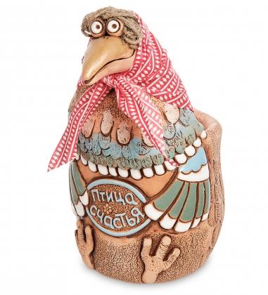 ZLC-32 Кашпо керамическое Птица счастья - курочка