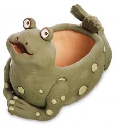 ZLC-34/01 Кашпо керамическое «Царевна-лягушка», зеленое