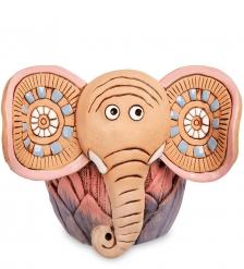 ZLC-46 Кашпо керамическое «Слон», розовое