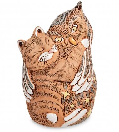 ZLC-51 Кашпо керамическое «Кот с совой»