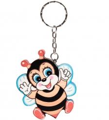 SPI-01/19 Брелок деревянный «Пчелка Лелька»