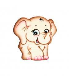 SPI-02/25 Магнит деревянный «Слон Семен»