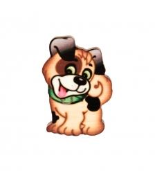 SPI-02/31 Магнит деревянный «Собачка Бом»