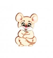 SPI-02/30 Магнит деревянный «Мышка-норушка»